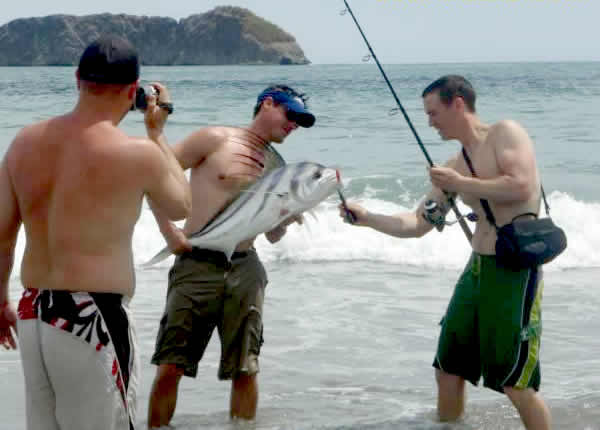 fishing in from shore in costa rica