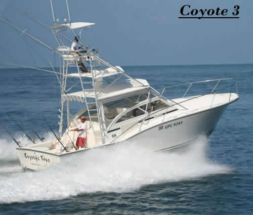 Tamarindo charter boat COYOTE TRES