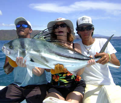 Roosterfishing charter from Playa Hermosa Guanacaste