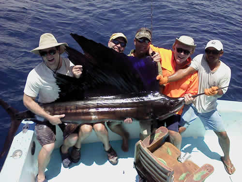Deep sea fishing from Playa Hermosa Guanacaste