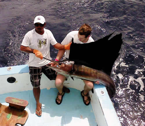 Deep sea fishing out of Occidental Grand Papagayo