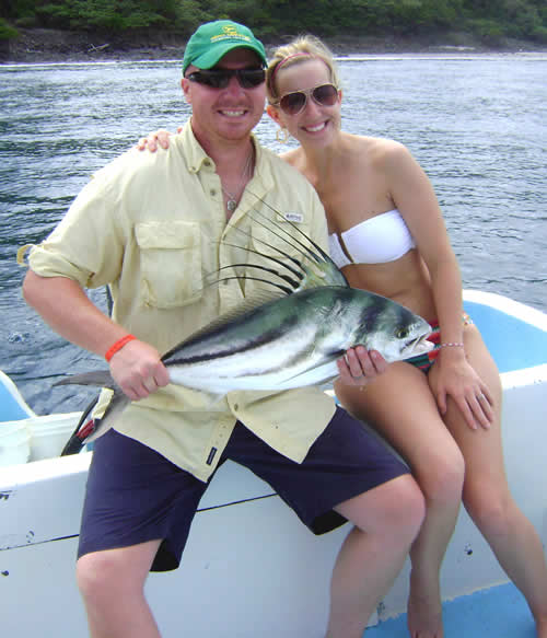 fishing in Papagayo for roosterfish