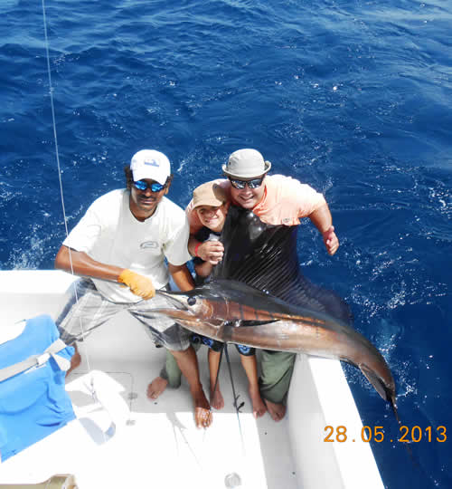 Jason and Ron Shepherd fishing charter out of Riu Guanacaste on May 2013