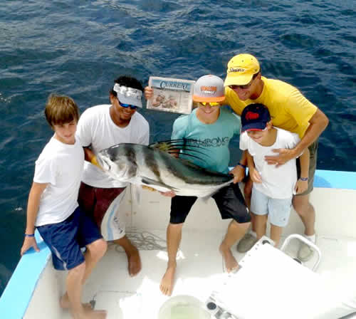 fishing out of Riu Guanacaste
