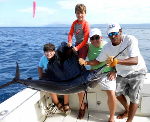 Deep sea fishing out of Four Seasons in Papagayo