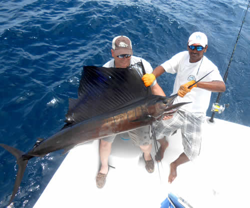 Mike Sheerin inshore fishing out of Playa del Coco