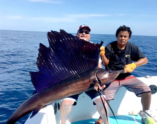 Lance Talbert fishing out of Coco beach