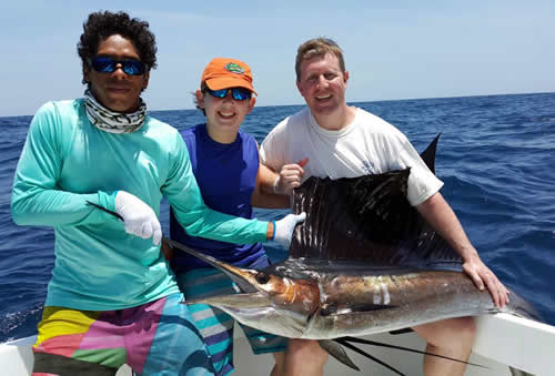 Deep sea fishing out of Riu Palace Costa Rica