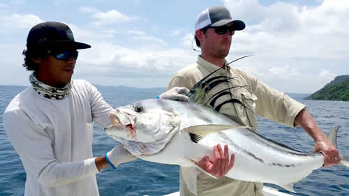 rooster fishing out of Four Seasons Papagayo