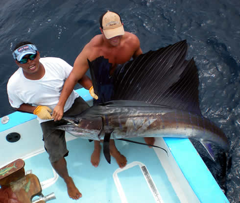 Deep sea fishing out of Playa Hermosa