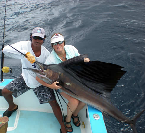 Deep sea fishing out of Playa del Coco