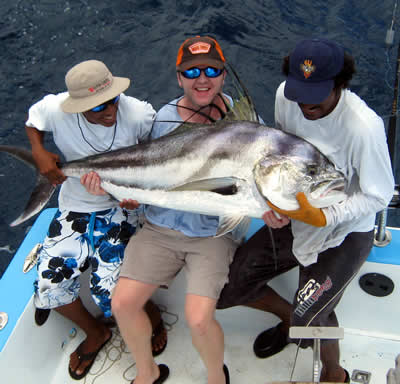 Rooster fishing charters from the Four Seasons Papagayo Resort