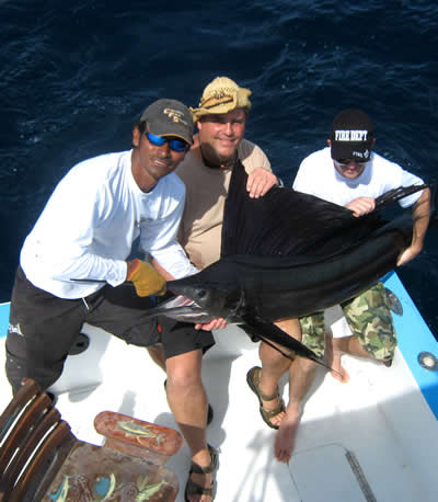 Deep sea fishing from the Riu Guanacaste Resort