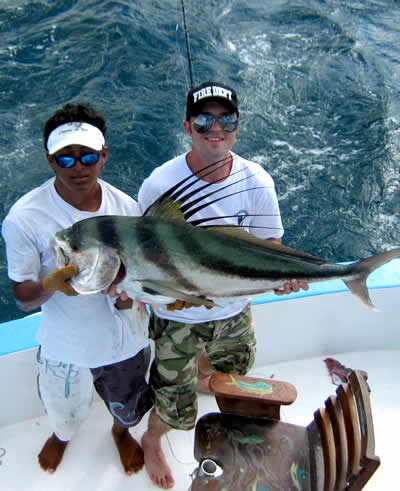 Inshore fishing from the Riu Guanacaste Resort