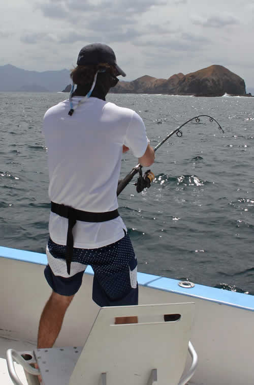 Jake Vroom papagayo fishing